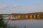 628 489 + (CFL) 628 506 als RE 5231 Luxembourg/L - Trier Hbf , Moselbrücke Konz 05.08.14