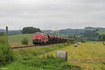 218 002 mit EK 55909 Rammelsbach Steinbruch - Einsiedlerhof, Rehweiler 03.09.14