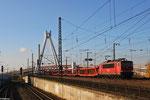 155 033 mit GA 47529 Zeebrugge Ramsk/BE - Kornwestheim Rbf SW , Ludwigshafen/Rhein am 26.11.13 (Leerwagen SAR, Sindelfingen)