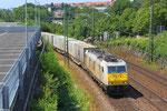 27.07. - Saarbrücken Güterumfahrung , ECR 186 168 mit KT 40983 Le Harve/F - Novara/I (Sdl.Intermodal)