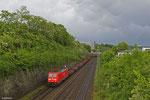 185 282 mit GM 60554 Saarbrücken Rbf West - Völklingen (Leerlauf Stahlverkehr, leere R und Sa-Wagen) , Saarbrücken Güterumfahrung am 11.05.14