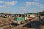 SNCF FRET Y 8000 (8152)mit Bauzug in Sarreguemines , 19.06.14