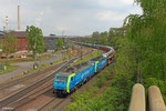 PKP Cargo 189 802 und im Schlepp PKP Cargo 189 152 mit DGS 43347 Dillingen/Ford - Rzepin/PL (Poznan Franowo , weiter nach Swarzedz ) am 22.04.14 Abzweig Dillingen