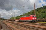 181 223 mit EK 55975 Völklingen Walzwerk - Saarbrücken Rbf Nord , Walze 16.08.14
