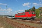 155 211 mit GA 47737 (Vlissingen Sloehaven) Venlo - Dillingen DB/Ford am 09.04.14 in Merzig