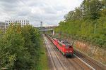 DT 140  821 + 140 858 mit EK 55975 Völklingen Walzwerk - Saarbrücken Rbf Nord, Saarbrücken 25.09.14