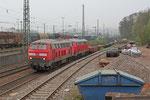 """DT 225 802 + 225 117 mit """"Knüppelzug"""" GM 60553 Völklingen - Saarbrücken Rbf Nord, Einfahrt Saarbrücken Rbf am 05.04.14"""
