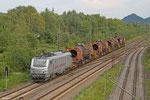 AKIEM BB37042 (Marathon-1500m Train) mit DGS 91311 von Dillingen Hochofen - Völklingen, Bous 02.09.14