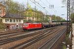 Einfahrt Offenburg Hbf , 185 039 mit EZ 44281 Mulhouse Ville - Offenburg Gbf A am 22.04.2013 17:38 Uhr