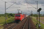 152 065 mit KT 43228 München Ost Rbf - Ludwigshafen/Rh BASF Ubf (aus IT 41852 Trieste C M - München Ost Rbf, EVU Lokomotion) am 20.05.14 zwischen Wiesental und Waghäusel (Rheinbahn)
