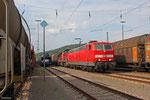 181 209 (im Schlepp 294 854) mit EK 55968 Saarbrücken Rbf West - Dillingen(Saar) am 02.06.14 in Saarbrücken