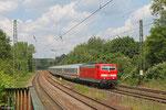 181 211 mit IC 2055 Saarbrücken Hbf - Heidelberg Hbf am 02.06.14 in St.Johann