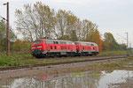 DT 218 414 + 218 425 als Tfzf(R) 70572 Mainz Hbf - Trier Hbf, Bous 31.10.14