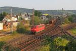 151 058 mit EK 55451 Ehrang Nord - Koblenz Lützel Nord , Ehrang 05.08.14