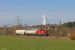 294 875 mit EK 55991 Göttelborn - Neunkirchen(S) Hbf (Sdl. zwei leere Amoniakwagen) am 28.03.14 bei Merchweiler