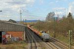 """LDS 277 031 mit """"Neu-Schotterzug"""" DBV 93588 Dillingen(Saar) Katzenschwänz - Saarbrücken Rbf Nord am 05.03.14 in Bous (Sdl. Baustellenlogistik)"""