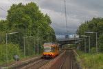 AVG 895 als S51 Karlsruhe (Europapl./PostGalerie) - Germersheim, Karlsruhe-Mühlburg 18.08.14