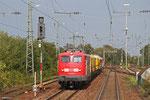 110 169 (BD Systemtechnik) mit Schienenschleifzug + Messwagen , Neustadt(Weinstraße) 22.09.14