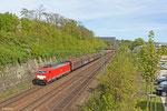 186 333 mit EZ 44210 Saarbrücken Rbf West - Blainville-Damelevières (EV) , Güterumfahrung Saarbrücken am 17.04.14 (Wegen Bauarbeiten in Frankreich mit ca. drei Stunden vor Plan)