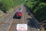 181 220 als LZF 48152 Saarbrücken Hbf - Forbach/F , für Übernahme EN 453