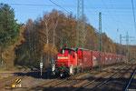 294 573 im Anschlussgleis zum Opelwerk Kaiserslautern , 26.11.13