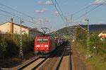 185 037 mit KT 41256 Ludwigshafen BASF Ubf - Port-Bou/E (Kombiverkehr), Bruchmühlbach 21.08.14