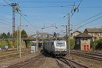 AKIEM BB37033 (i.E. für VFLI) mit DGS 42226 Ludwigshafen BASF Ubf - Forbach/F (Lyon-Guillotiere) , Einfahrt Forbach Triage am 10.04.14
