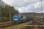 272 001 (i.E. für NIAG) mit DGS 79878 aus Neunkirchen(Saar)Hbf Richtung Ruhrgebiet, Saarbrücken Rbf am 20.11.13