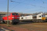 225 117 und ECR 77010 am 01.04.14 in Saarbrücken