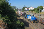 CFL 1587 + 1584 mit DGS 43285 (Bettembourg/L) Forbach/F - München-Laim Rbf (Mars Logistik) , Forbach 02.07.17