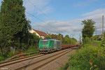 SNCF FRET BB37014 mit DGS 44454 Dillingen Hochofen Hütte - Forbach/F (Brammen, Ziel Grobblechwalzwerk Dunkerque), Saarbrücken Burbach 12.08.14
