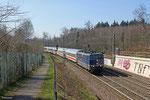 181 201 mit IC 2351 Saarbrücken Hbf - Stuttgart Hbf am 09.03.14 bei St.Ingbert