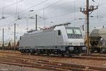 AKIEM 186 190 in Forbach Triage (wartet auf Überführung mit EZ 44270 nach Woippy) 12.07.14