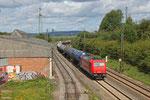 185 632 (RheinCargo GmbH) mit DGS 88717 (Bertrange/L) Ehrang Nord - Karlsruhe Rheinbrücke Raffinerie am 12.08.13 in Bous