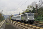 RailAdventure 139 558 mit Überführung einer Alstom-Hybridlokomotive für den VW-Konzern, Dudweiler 18.11.14