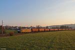 MRCE 185 553 (i.E.für NIAG) mit DGS 91210 Moers - Göttelborn am 28.03.14 bei Merchweiler