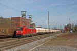 185 019 mit XP 49247 Creutzwald - Hüls AG am 19.03.14 in Luisenthal(Saar)