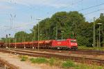 26.07. - Karlsruhe Gbf , 152 075 mit GC 48290 Heringen (Werra) - Hausbergen/F (Kali in Tds - Wagen)