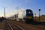 ATLD 273 014 (i.E. für  HTRS Nederland ) mit Autotransportzug , Dillingen Ford 15.11.13