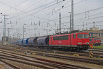 155 121 mit GC 49445 Lutherstadt Wittenberg-Piesteritz - Zary/PL (Harnstoff in NACCO - Tagnoos) , Falkenberg/Elster unterer Bahnhof am 07.04.14