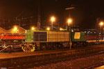 abgestellt in Saarbrücken Hbf das  ehmalige SNCF FRETchen BB61008, das mitleiweile ihre FRET-Logos verloren hat - 12.04.2012