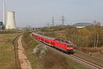 143 825 mit RE-D 12012 von Koblenz nach Saarbrücken am 30.03.14 zwischen Ensdorf und Bous