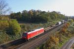 185 053 mit GC 62559 Ensdorf(Saar) - Köln-Kalk Nord wischen Saarlouis und Dillingen(Saar) am 13.11.13 (Sdl.Trafo)