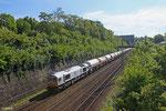 ECR 77 010 mit GC 44422 Millingen - Forbach/F (Tavaux Solvay) (Sdl.leere Za) am 14.05.14 auf der Güterumfahrung
