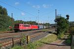 155 194 (im schlepp 186 337) mit EZ 51904 Mannheim Rbf Gr.G - Saarbrücken Rbf Nord, Dudweiler 23.09.14