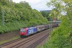 SBB 482 032 (i.E. für HSL Logistik) mit DGS 83764 Neunkirchen(Saar) Hbf - Bremen-Inlandshafen (Sdl.) , Güterumfahrung Saarbrücken am 15.05.14