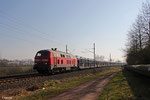 218 009 (225 809) mit EK 98801 Saarbrücken Rbf West - Fürstenhausen am 13.03.14 bei Gersweiler-Ottenhausen