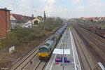 266 004-1 D-RHC (DE 676 RheinCargo) mit DGS 88717 Ehrang(Nord) - Karlsruhe Rheinbrücken Raffinerie am 25.203.14 in Saarbrücken-Burbach
