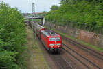 """181 213 """"Saar"""" mit EZ 98803 (Survilliers Foss) Forbach/F - Saarbrücken Rbf Nord ,am 21.05.14 Güterumfahrung Saarbrücken"""