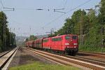 DT RBH 267 (151 144) + RBH 261 (151 038) mit GM 60499 Oberhausen West Orm - Neunkirchen(Saar) Hbf (Kohle) , Dudweiler 08.09.14